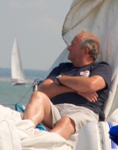 Barry chilling on the foredeck